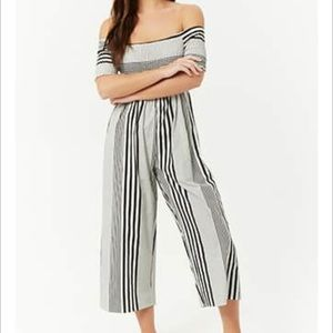 NWT Forever 21 Smocked Jumpsuit